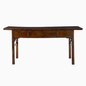 Antikes lackiertes chinesisches Sideboard & Tisch