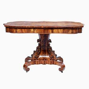 Mesa de centro danesa antigua de caoba