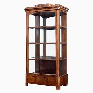 Antique Danish Mahogany Glazed Display Cabinet