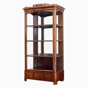 Antique Danish Mahogany Glazed Display Cabinet
