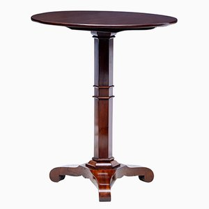 Table d'Appoint Ronde Antique en Acajou, Danemark