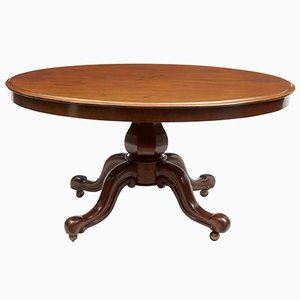19th Century Victorian Mahogany Oval Breakfast Table