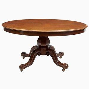 Mesa de desayuno victoriana ovalada de caoba, siglo XIX