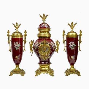 Antique French Decorative Toleware Garniture Set