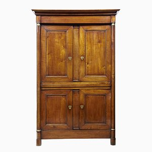 19th Century French Empire Fruitwood Cupboard