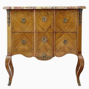19th Century French Kingwood Marble Commode