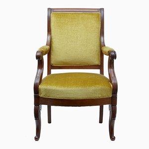 Französischer Sessel mit Gestell aus Mahagoni, 19. Jh.
