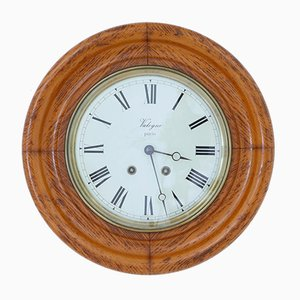 Antique French Oak Wall Clock from Japy Freres