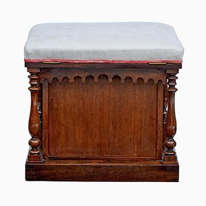 19th Century Gothic Revival Rosewood Stool