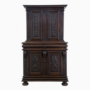 Antique French Carved Walnut Cabinet