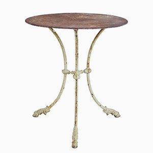 Tavolino antico tripode in ferro