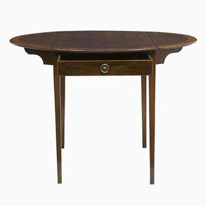 Antiker Regency Pembroke-Tisch aus Mahagoni