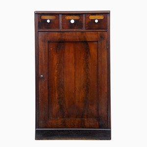 19th-Century Mahogany and Oak Cabinet