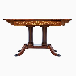 Antique Mahogany Inlaid Sofa Table