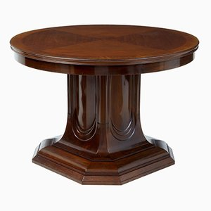 19th Century Mahogany Pedestal Base Center Table