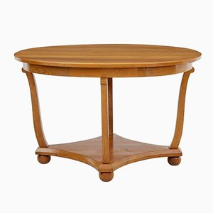 Oval Antique Oak Side Table