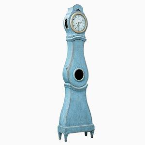 Reloj de caja alta Mora sueco pintado del siglo XIX