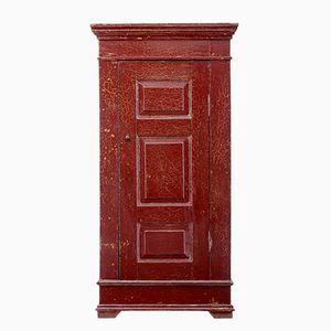 19th Century Chinese Red-Lacquered Cupboard