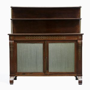 19th Century Regency Rosewood Brass Inlaid Chiffonier