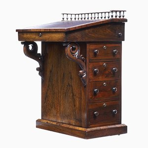 Regency Davenport Schreibtisch aus Palisander, 19. Jh.