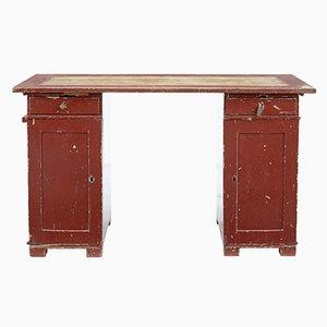 Antique Rustic Swedish Pedestal Desk