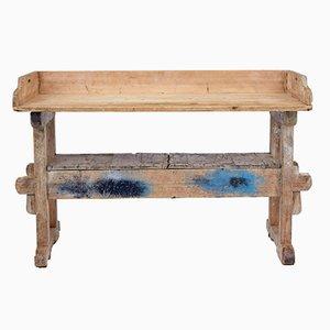 Antiker Arbeitstisch aus rustikalem Pinienholz