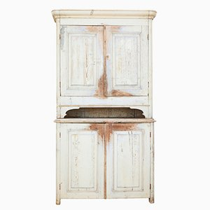 Antique Swedish Painted Pine Cupboard