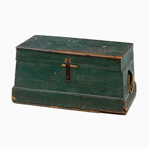 19th Century Swedish Rustic Pine Box