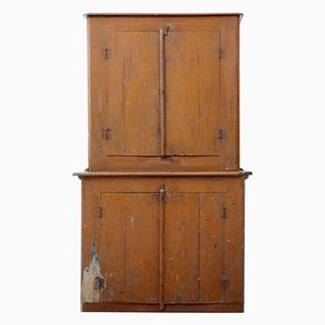 Antique Rustic Pine Kitchen Cupboard