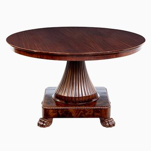 Antique Scandinavian Mahogany Center Table