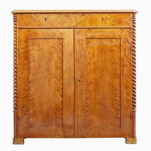 Antique Swedish Birch Cupboard
