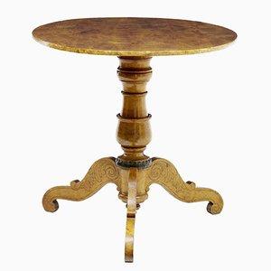 Tavolo ovale antico pieghevole in betulla, Svezia