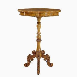19th-Century Swedish Elm Occasional Table
