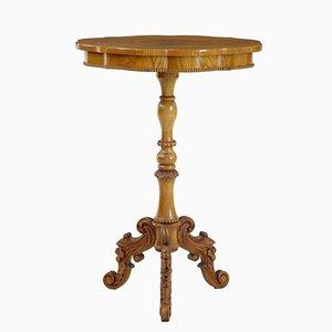 Tavolino di servizio in olmo, Svezia, XIX secolo