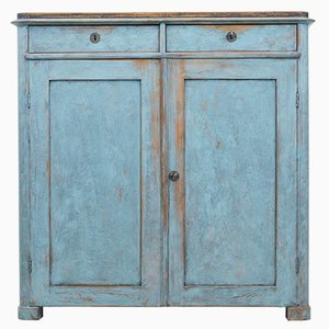 19th Century Swedish Painted Cupboard