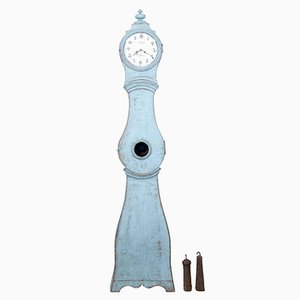 19th Century Swedish Painted Longcase Mora Clock