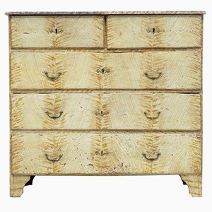 19th-Century Swedish Painted Pine Chest of Drawers