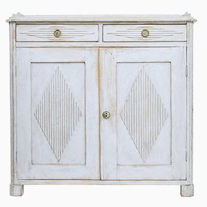 19th-Century Swedish Painted White Cabinet