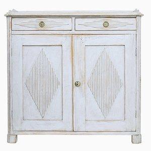 Mueble sueco pintado en blanco del siglo XIX