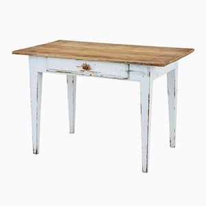 Mesa de cocina sueca antigua de pino
