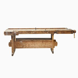 19th-Century Swedish Pine Workbench