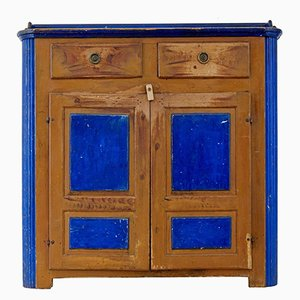 Antique Rustic Painted Cupboard