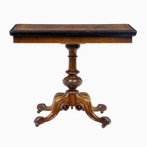 Table pour Jeux de Cartes Victorienne Antique en Noyer