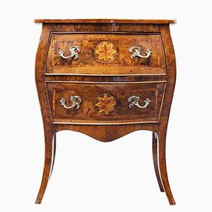 19th Century Walnut Inlaid Maltese Commode