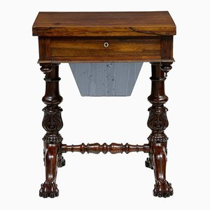 19th-Century William IV Rosewood Workbench