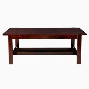 Danish Rosewood Extending Coffee Table, 1950s