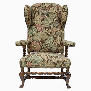 Vintage Mahogany Wingback Armchair