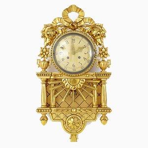 Horloge Murale Mid-Century Dorée de Westerstrand Urfabrik AB