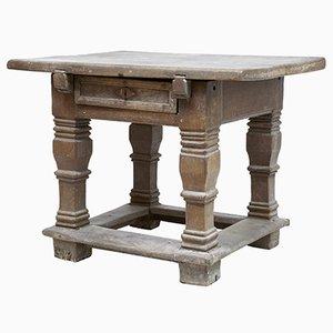 Tavolo da lavoro fiammingo in quercia, XVII secolo