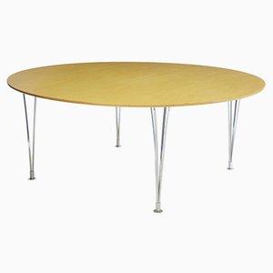 Table de Salle à Manger Ronde Vintage en Bouleau par Bruno Mathsson, 1980s